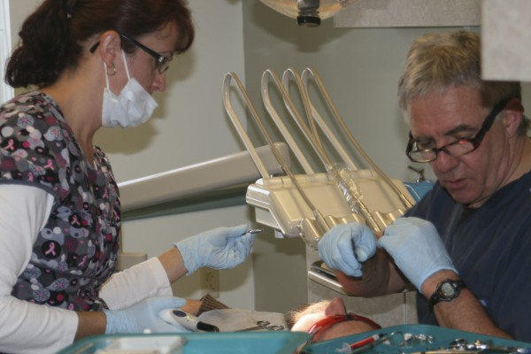 Several area dental care doctors and hygienists volunteered their services on Feb. 3 at the Knox County Health Clinic in Rockland. As part of the second annual Dentists with a Heart program, they served more than 100 people.
