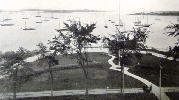 Fort Allen Park seen around 1897 in a photo by Holman Waldron.