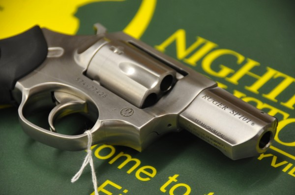A Ruger SP101 double action revolver for sale at at Van Raymond Outfitters in Brewer on Wednesday, Feb. 22, 2012.