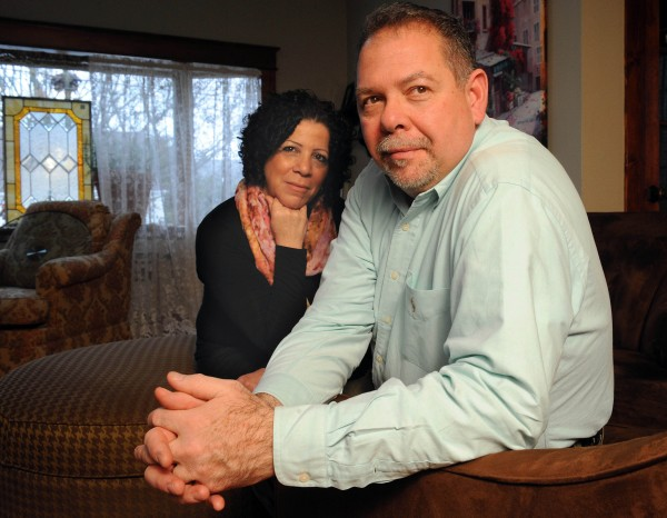 Rose Anderson and her husband Richard in their Staten Island, N.Y., home.  He suffered a severe traumatic brain injury. What caused his uncontrolled crying?