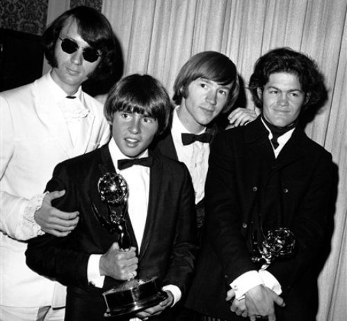 The Monkees pose with their Emmy award on June 4, 1967. The group members are, from left to right, Mike Nesmith, Davy Jones, Peter Tork, and Micky Dolenz. Jones died Wednesday Feb. 29, 2012 in Florida.