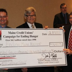 Maine's Credit Unions Raise Record-Setting $513,000 For Ending Hunger In Maine In 2013