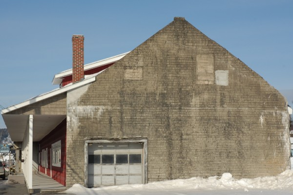 By next fall this exterior wall of the old AD Soucy Farm Supply building on Market Street could have a 35-by-15-foot mural honoring all past and present Fort Kent farmers. Retired businessman Reno Lagasse has raised $6,000 towards the $19,000 project.