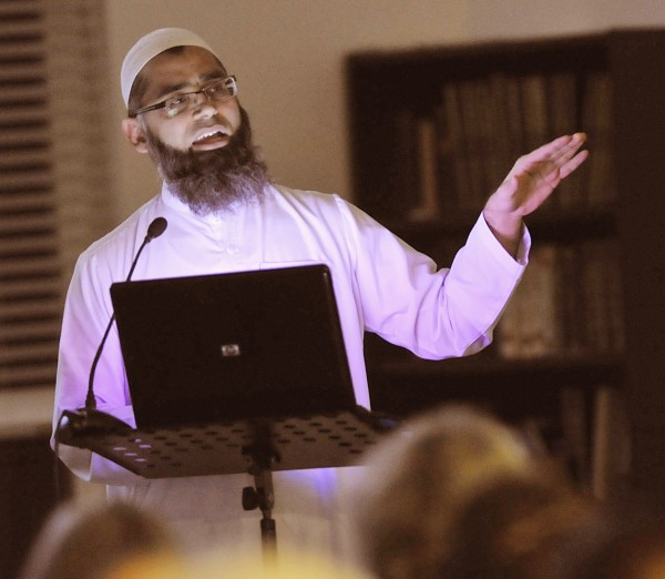 Dr. Muhammad A. Mir spoke to about 200 people on the subject of the Quran at the Islamic Center of Maine in Orono, Maine, Saturday, Feb. 4, 2012.