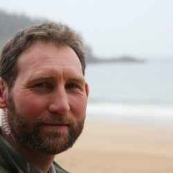 Acadia National Park Ranger Chris Wiebusch, 45, of Franklin, patrolled Sand Beach on Saturday, Feb. 11. Wiebusch said he is living out his dream of working outside. In the winter Acadia drops from 22 patrolling rangers to only seven.