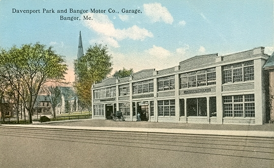 The Bangor Motor Company, located on Main Street next to Davenport Park, was the site of the auto show of 1912.