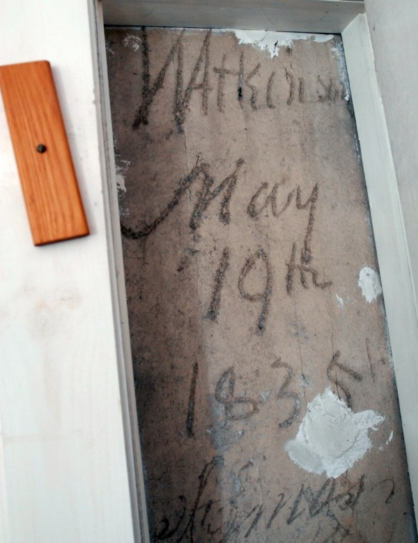 Tom Bartlett and Linda Stearns have been renovating their 1835 house on Third Street in Bangor for about 12 years. The builders signed and dated the house in 1835 on an upstairs plaster wall.