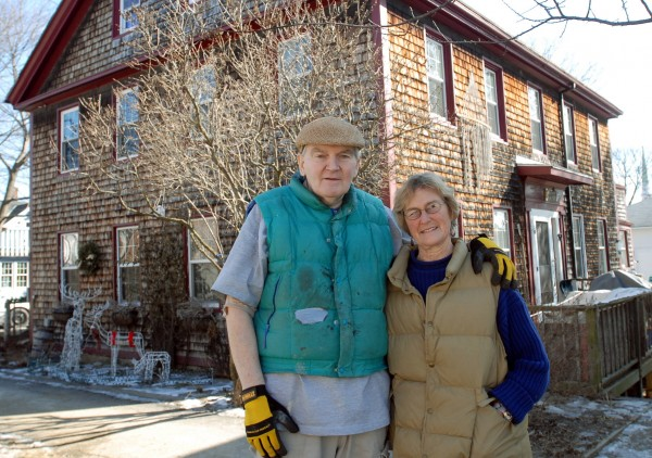 Tom Bartlett and Linda Stearns have been renovating their 1835 house on Third Street in Bangor for about 12 years.
