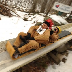 Thousands converge on Camden for Snow Bowl toboggan event
