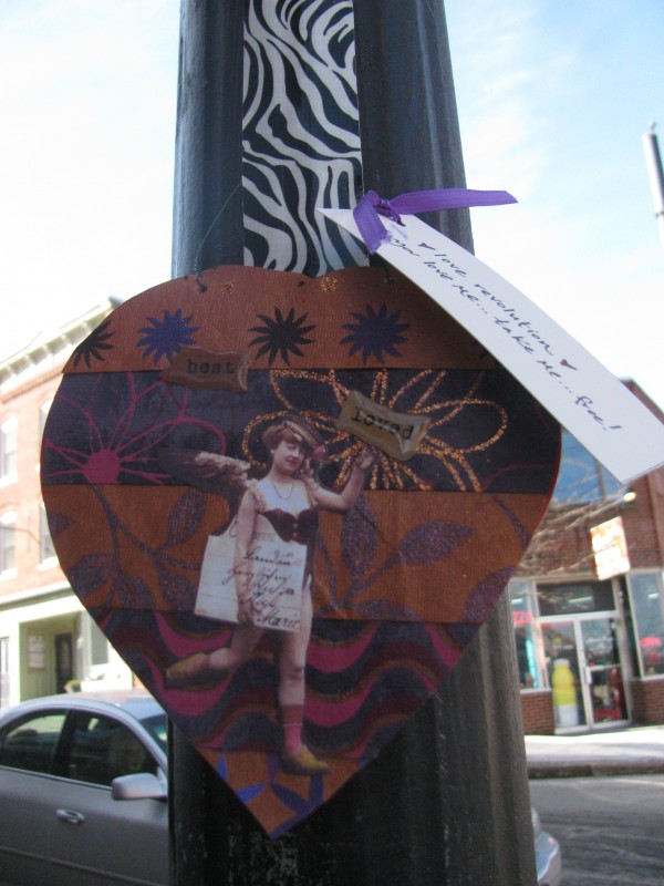 Belfast residents woke up Tuesday, Feb. 14 to find the city decorated for Valentine's Day, with intricate and colorful Valentine's Day cards posted around the center of the city.
