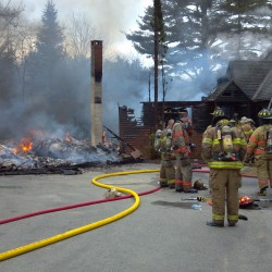 Fire destroys Owls Head barn, damages home