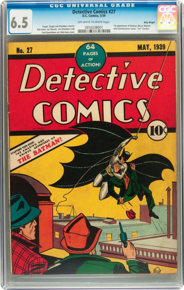 The Detective No. 27 comic brought $522,813 in a recent Heritage Auctions sale in Dallas.