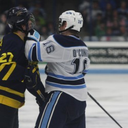 Merrimack beats up Maine in penalty-marred contest, forces third game Sunday night
