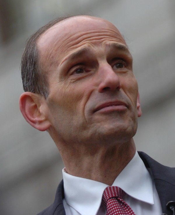 Former Maine Gov. John Baldacci held a press conference on the steps of Bangor City Hall Wednesday, March 14, 2012, announcing he would not seek a seat in the U.S. Senate.