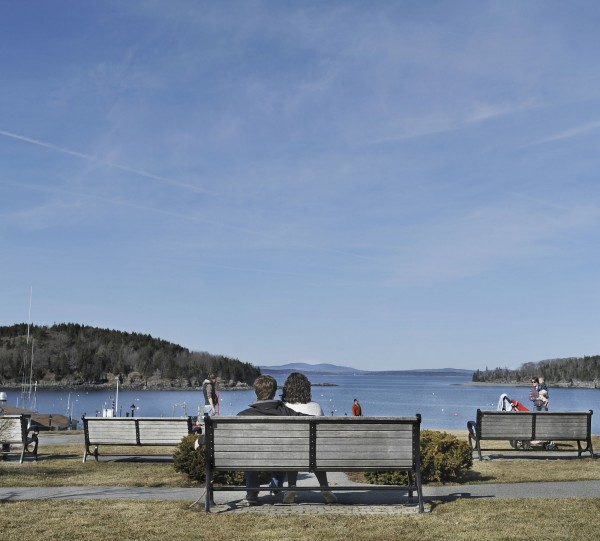 It was the calm before the crowds as wonderful spring weather brought people out on St. Patrick's Day in Bar Harbor on Saturday, March 17, 2012.