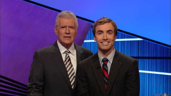 Ben Parks-Stamm (right) with Alex Trebek recently.