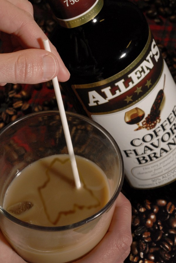 A Sombrero is a popular libation of Maine staple Allen's Coffee Flavored Brandy mixed with milk on ice.