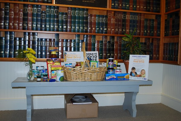 The Southwest Harbor Library is collecting food instead of fines.