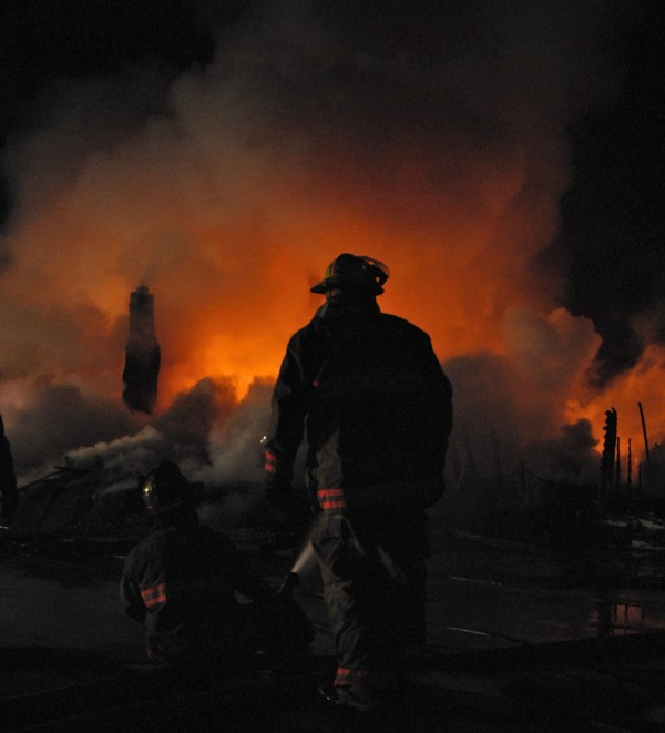Crews from nine departments in Maine and New Brunswick responded to the early morning fire in Fort Kent which leveled three historic buildings on West Main Street on Sunday, March 25, 2012.