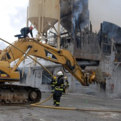 Cause of E. Millinocket concrete factory fire undetermined