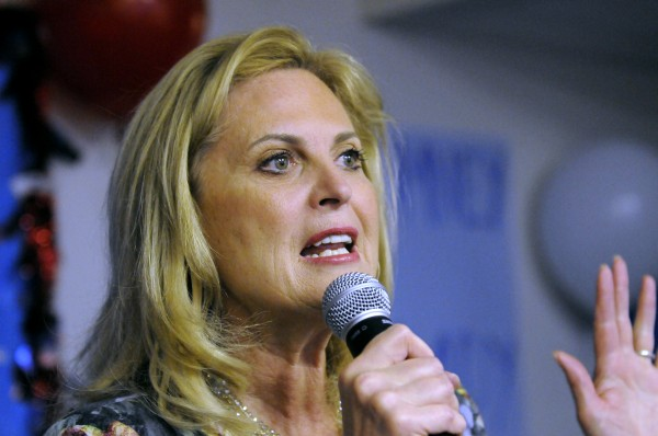 In this March 1, 2012 file photo, Ann Romney, wife of Republican presidential candidate former Massachusetts Gov. Mitt Romney, speaks in Atlanta.