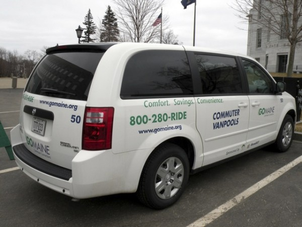 A GoMaine minivan in Feb. 2010.