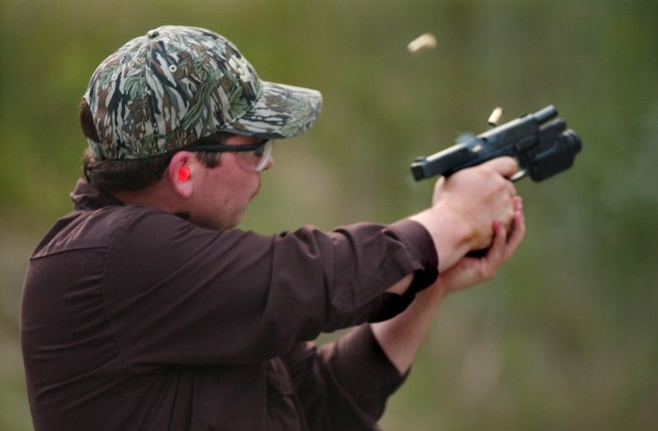 &quotIt's kind of a hobby. It's fun and relaxing,&quot said Brian Jonah of Hampden before some target practice in June 2008 at the Hampden Rifle and Pistol Club.