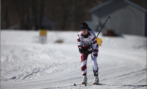 Hannah Renedo competes in the Nordic Eastern High School qualifier at Titcomb Mountain on Saturday, March 3, 2012. Renedo qualified for the Eastern High School Nordic Ski Championships.