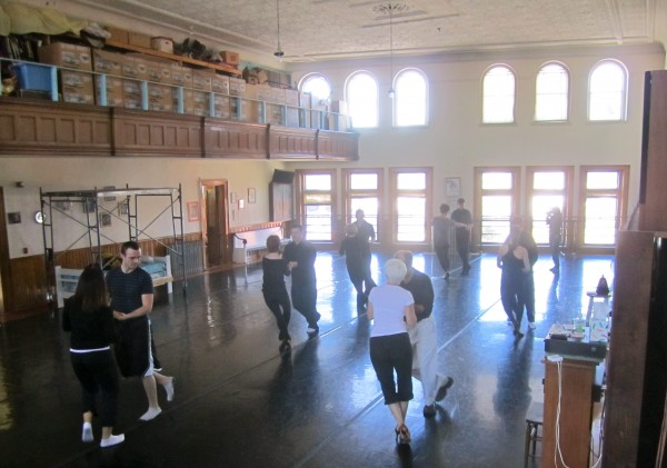 "In preparation for the ""Dancing For the Stars"" fundraiser event to benefit the Phillips-Strickland House on March 17, the six competing couples (one ""pro"" and one ""star"") prepare recently at Robinson Ballet's rehearsal space."