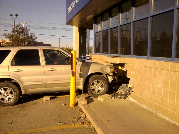 Members of the Bangor police and fire departments responded at about 8 a.m. Friday to an accident at the Rite Aid on Broadway Avenue.