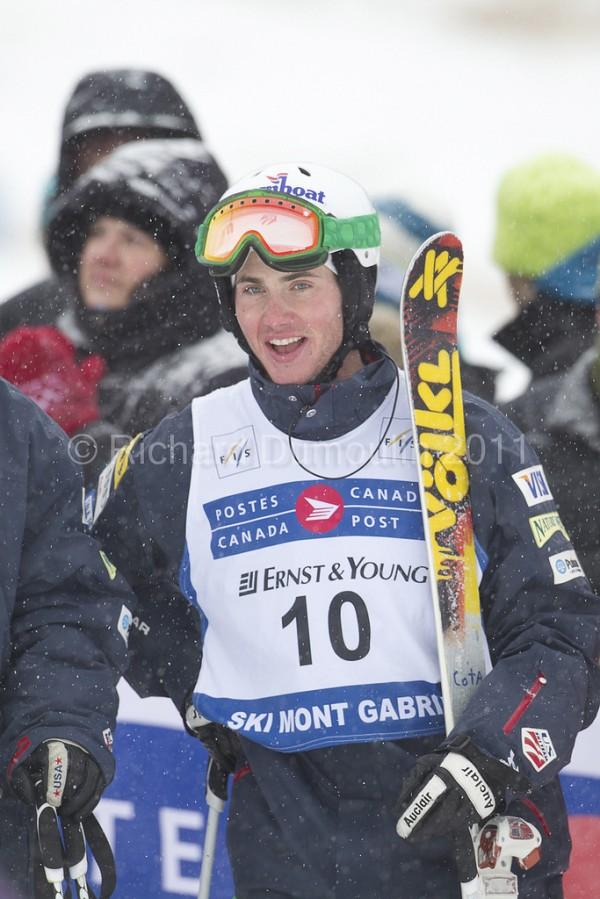 Jeremy Cota at Canada Post Grand Prix at Ski Mont Gabriel FIS Dual Mogul World Cup 2011.