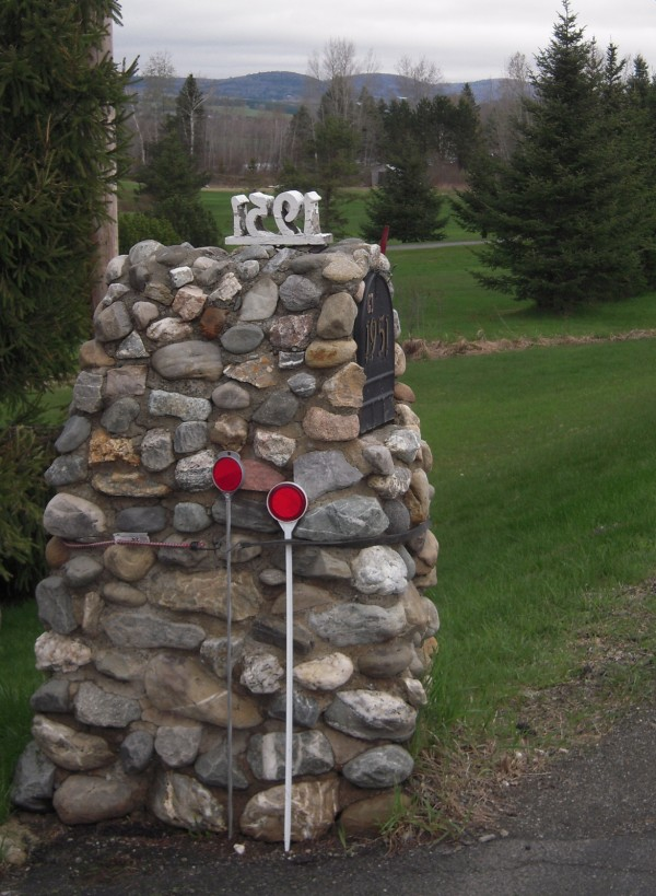 Among the inventive ideas that can be seen just off various roads in The County is this stone fortress of a mail box that seemingly dares the snow plow to try and knock it down.