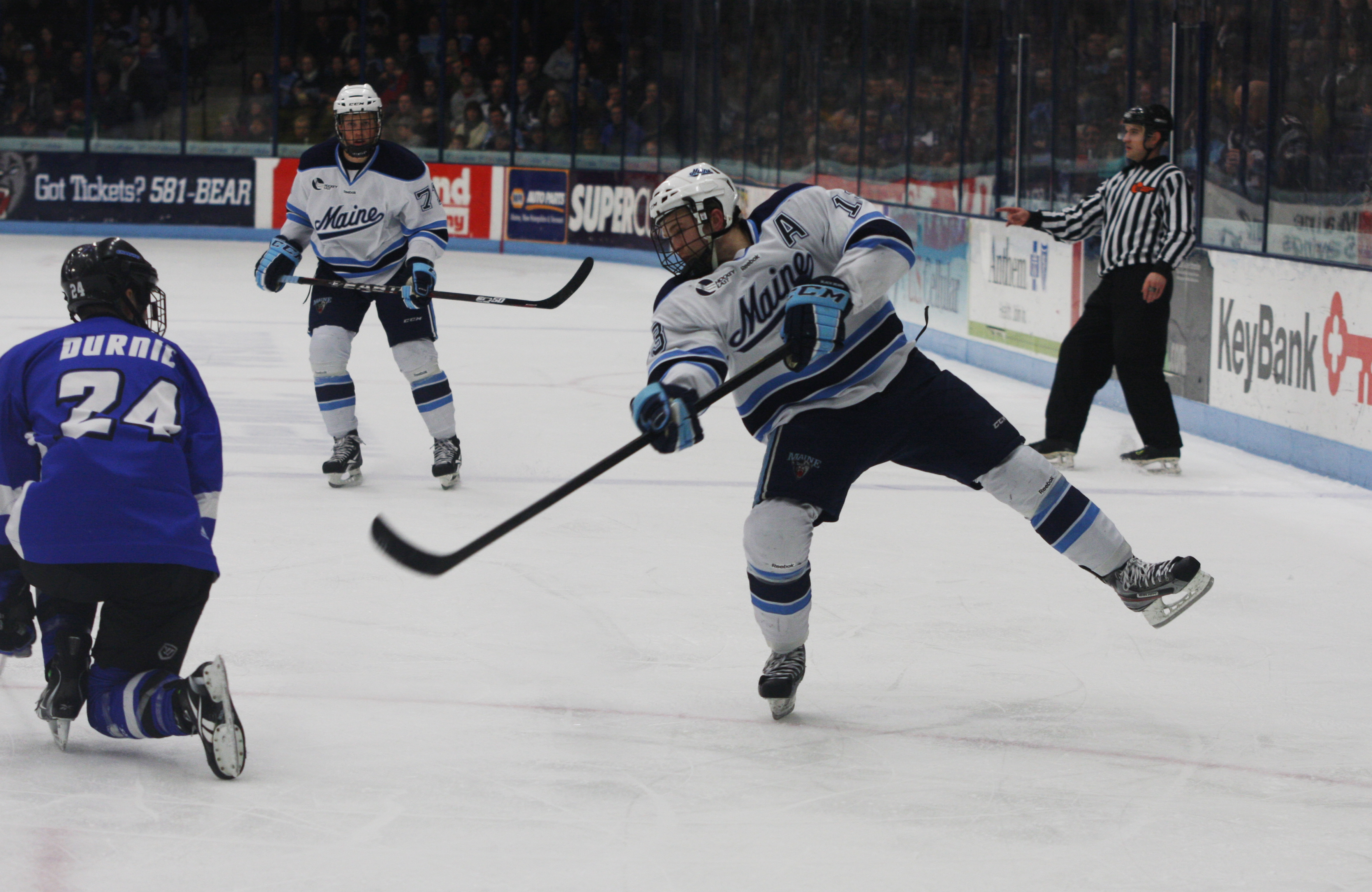 Maine's Abbott named Hockey East Player of Year, Hobey Baker finalist