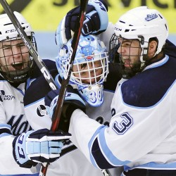 Merrimack edges Maine 2-1 in men's hockey; first win at Alfond since '97