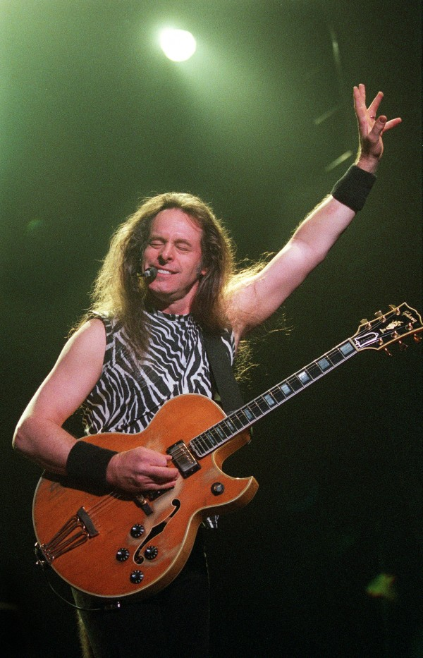 Ted Nugent let his guitar do the talking during his opening performance for Lynyrd Skynyrd at the Bangor Auditorium in May 2001.