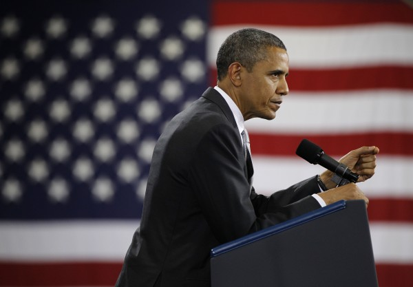 President Barack Obama speaks at a fundraiser at Southern Maine Community College, Friday, March, 30, 2012 in Portland, Maine. Obama campaigned throughout New England on Friday.