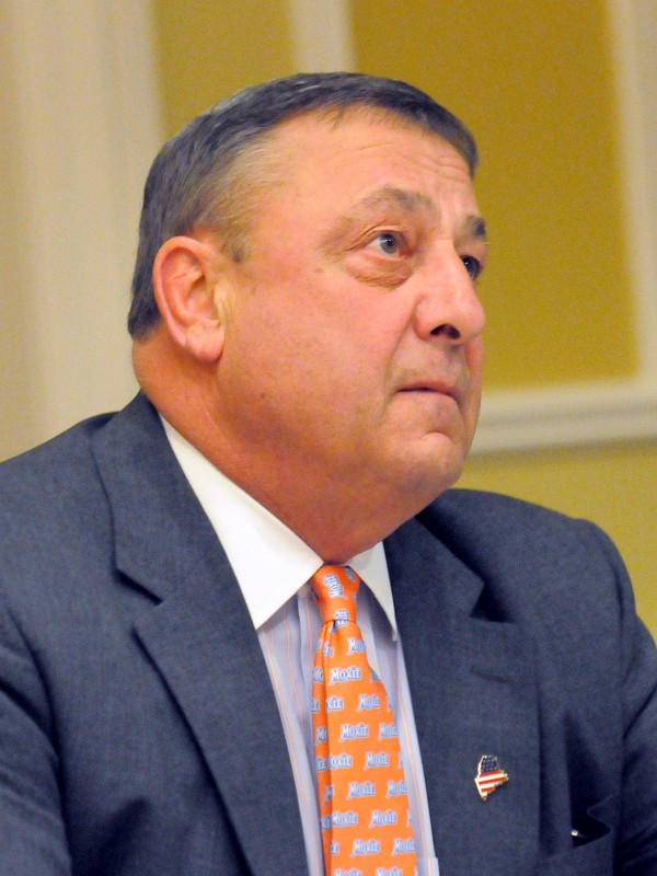 Gov. Paul LePage in Rockland in March 2012.