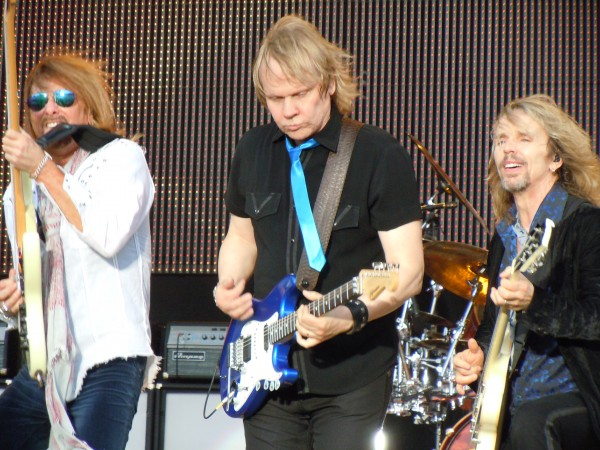 Styx performs in Omaha, Nebraska at Bank of the West Celebrates America in Memorial Park on July 2, 2010.