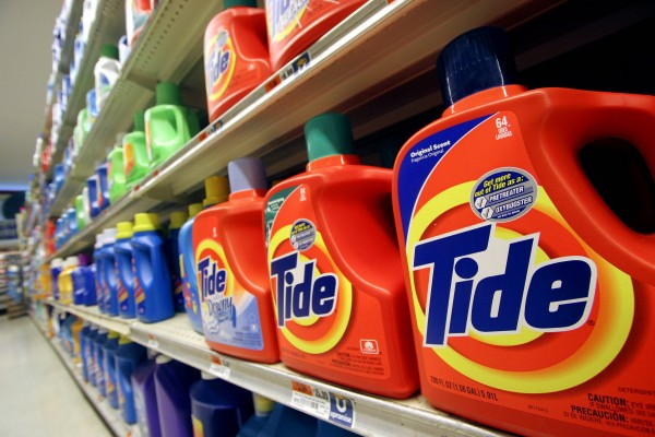 This Monday, Oct. 31, 2005 file photo shows Tide laundry detergent on a shelf at a New York supermarket. Tide has become a hot commodity for thieves, at least in parts of the country. For a variety of reasons, it's especially well-suited to sale on the black market.