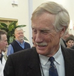 Senate candidate Angus King looking for adventure on his Harley