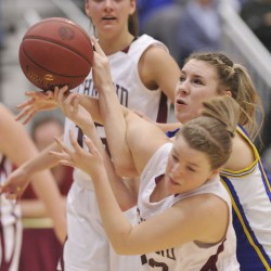 Washburn stifles Richmond for third straight Class D girls basketball state title; Worcester gets 1,000th point