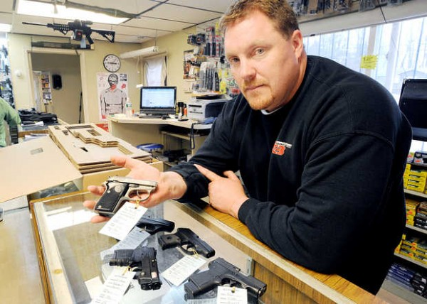 Handgun and rifle sales are up at G3 Firearms in Turner, owner Chris Jordan said. &quotThe phone started ringing 20 minutes before the shop opened and within 40 minutes, we were looking for seven different guns that I don't have in the shop,&quot Jordan said.