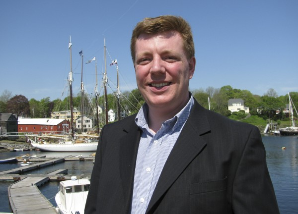 Dan Bookham, the head of the Penobscot Bay Regional Chamber of Commerce, will be stepping down at the end of the summer after three years on the job to take a position in the private sector. Bookham is seen here in May 2009.