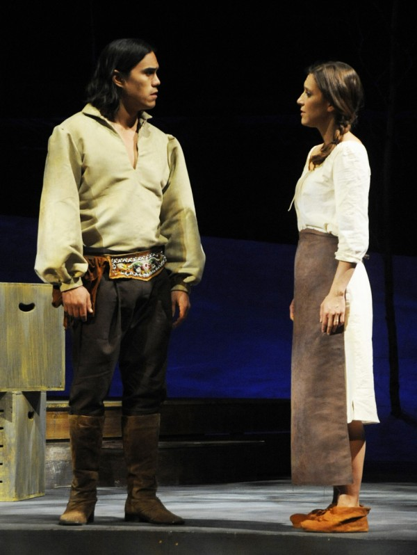 Dylan Carusona and Aubrey Saverino in Penobscot Theatre's production of &quotINK.&quot