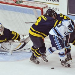 What's your prediction on the Maine-Merrimack quarterfinal series?