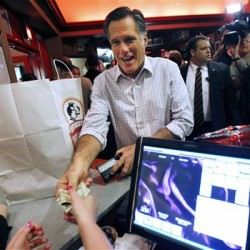 Romney, Santorum hit the road, eyeing 11 states voting by Tuesday