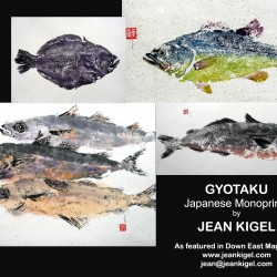 Gyotaku Fish Monoprints, Kigel