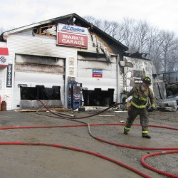 Friends help man rebuild Corinna auto shop that burned to the ground