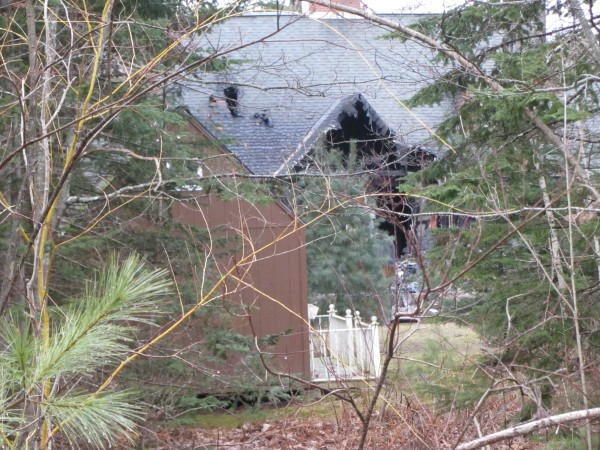 A fire in South Thomaston destroyed a house and a garage but most of the possessions were saved.