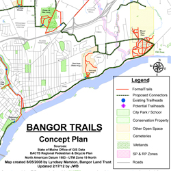 To see the full version of the Bangor trails concept plan, visit http://bdn.to/trailmap.